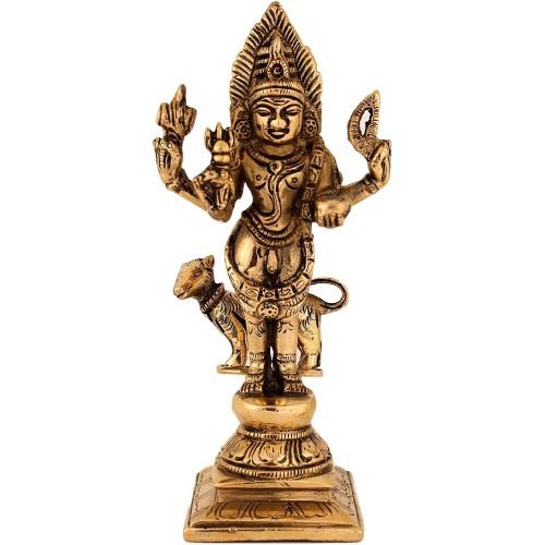 Kala Bhairava Brass Idol used for pooja ...