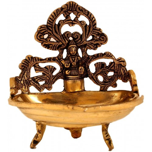 Mahalakshmi Brass Lamp with Three Stand