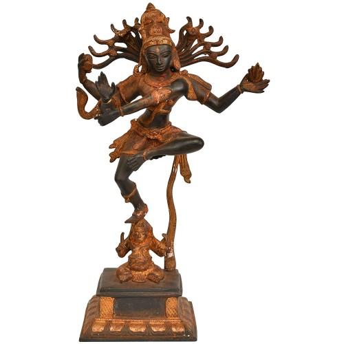 Nataraja Dancing on Apasmara Purusha Bra...