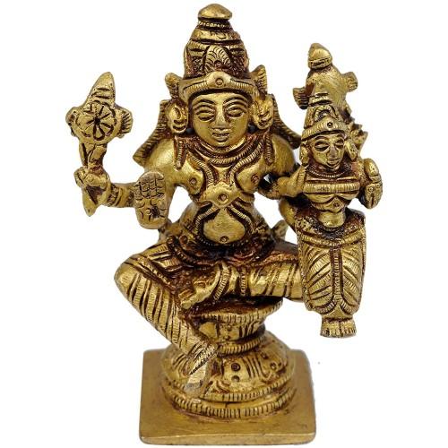 Lord Vishnu with Goddess Lakshmi Small S...