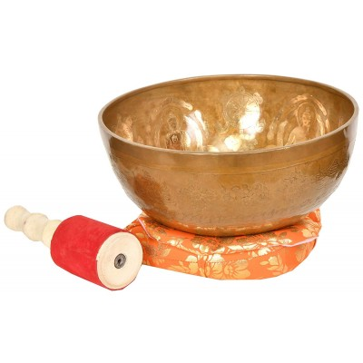 Buddhas Singing Bowl Five Dhyani Tibetan Buddhist Brass