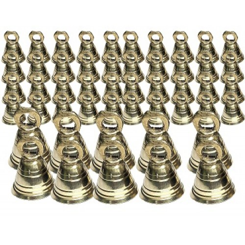 Lot of 100 Brass Bells 2 Inch Height Vintage Style India Craft Decorative Camel Sheep Horse