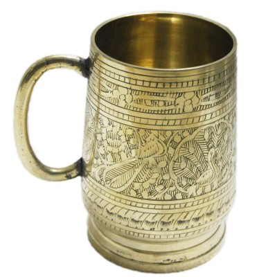 18-oz Ice Cold Brass Beer Stein, Moscow Mules Mugs Golden Finished