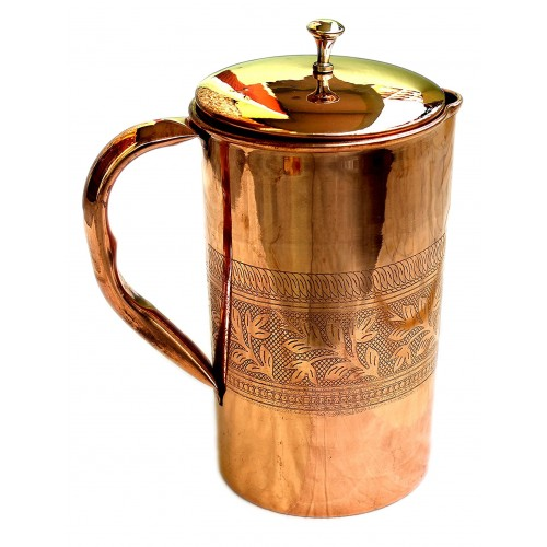 Pure Copper Water Jug Copper Pitcher for...