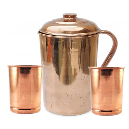 Ayurvedic Pure Copper Water Pitcher Jug ...
