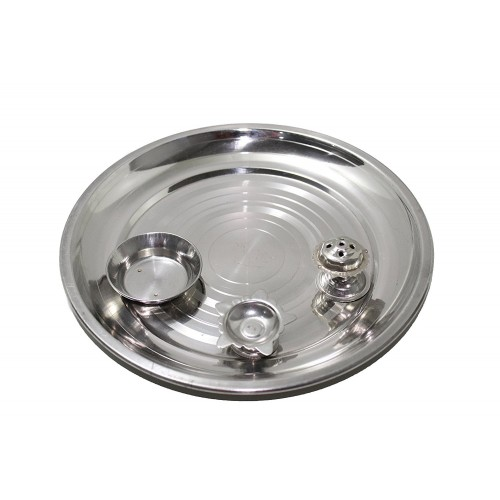 Stainless steel Mirror Finished pooja Th...