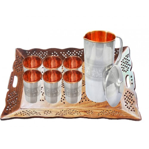 Serve-ware Set One Copper and Stainless ...