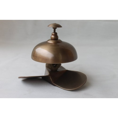 Handcrafted Solid Brass Antique Finish Service Desk Bell