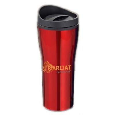 Shake N Shake Bottle, 500ml, Red with shipper lid Inside Plastic Lining Outside Stainless Steel Body