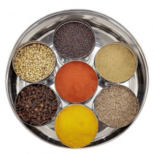 Stainless Steel See through Spice Box wi...