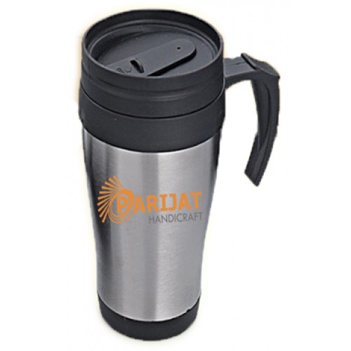Stainless Steel Travel Mug with Spill Pr...