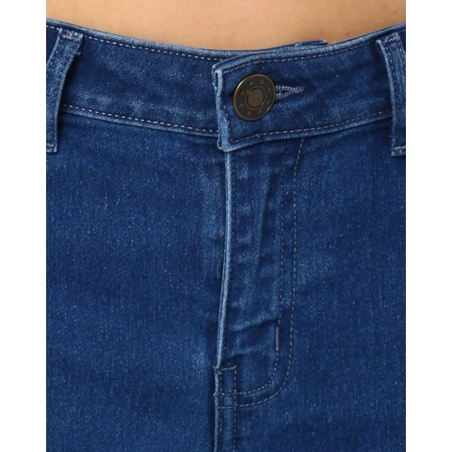 Women Girls Stretchable Slim-fit Blue Jeans Size 28