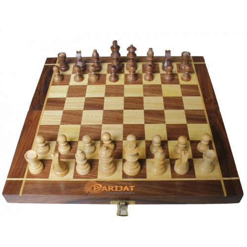 Collectible Folding Wooden Chess Game Bo...